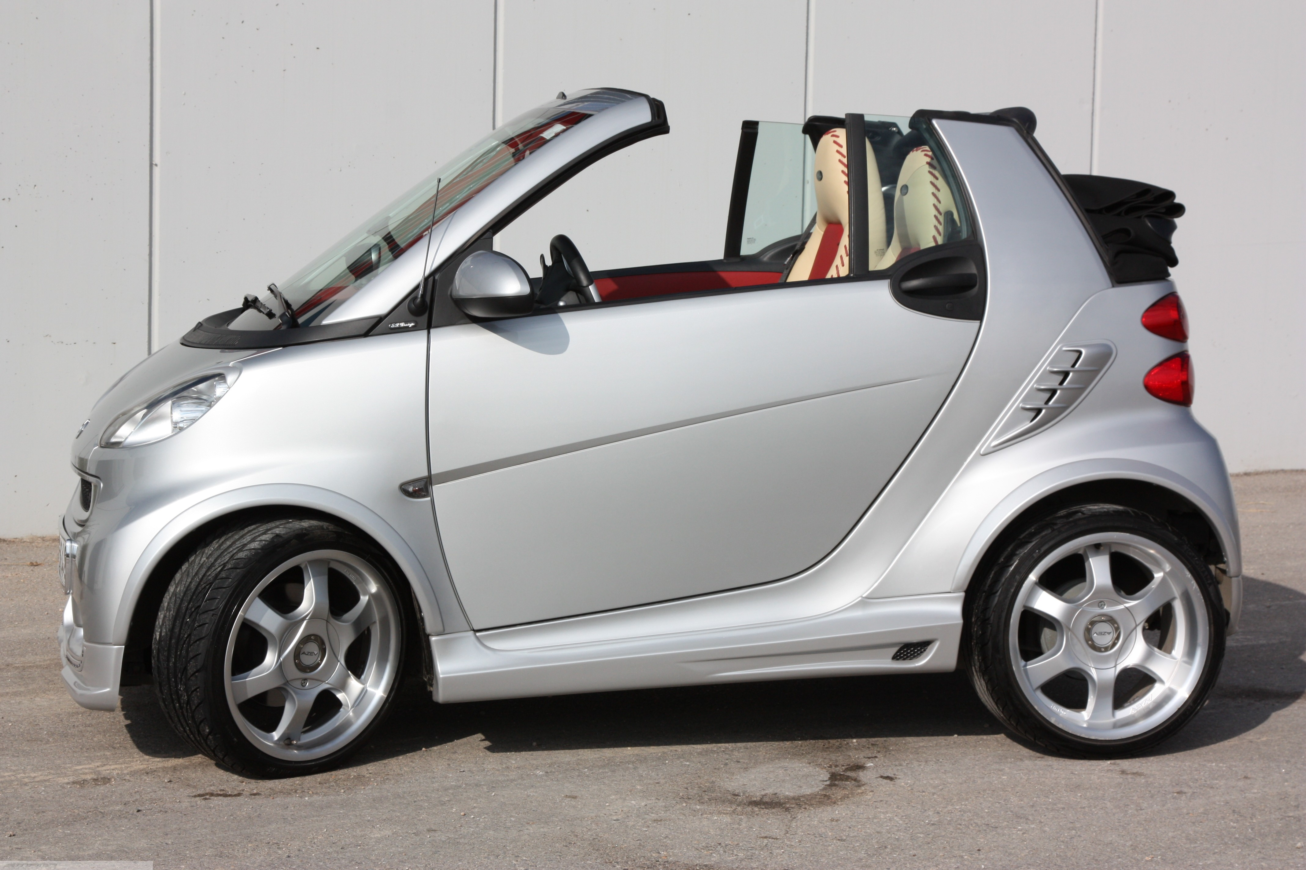 Body Kit Silver Side View Smart Fortwo 451.