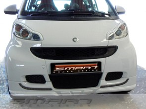 Front Spoiler White Color Smart Fortwo 451.