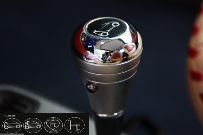 Gear Shift Knob Chrome Satine Smart Fortwo 450.