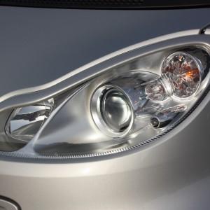 Headlight Frames Silver Smart Fortwo 451.