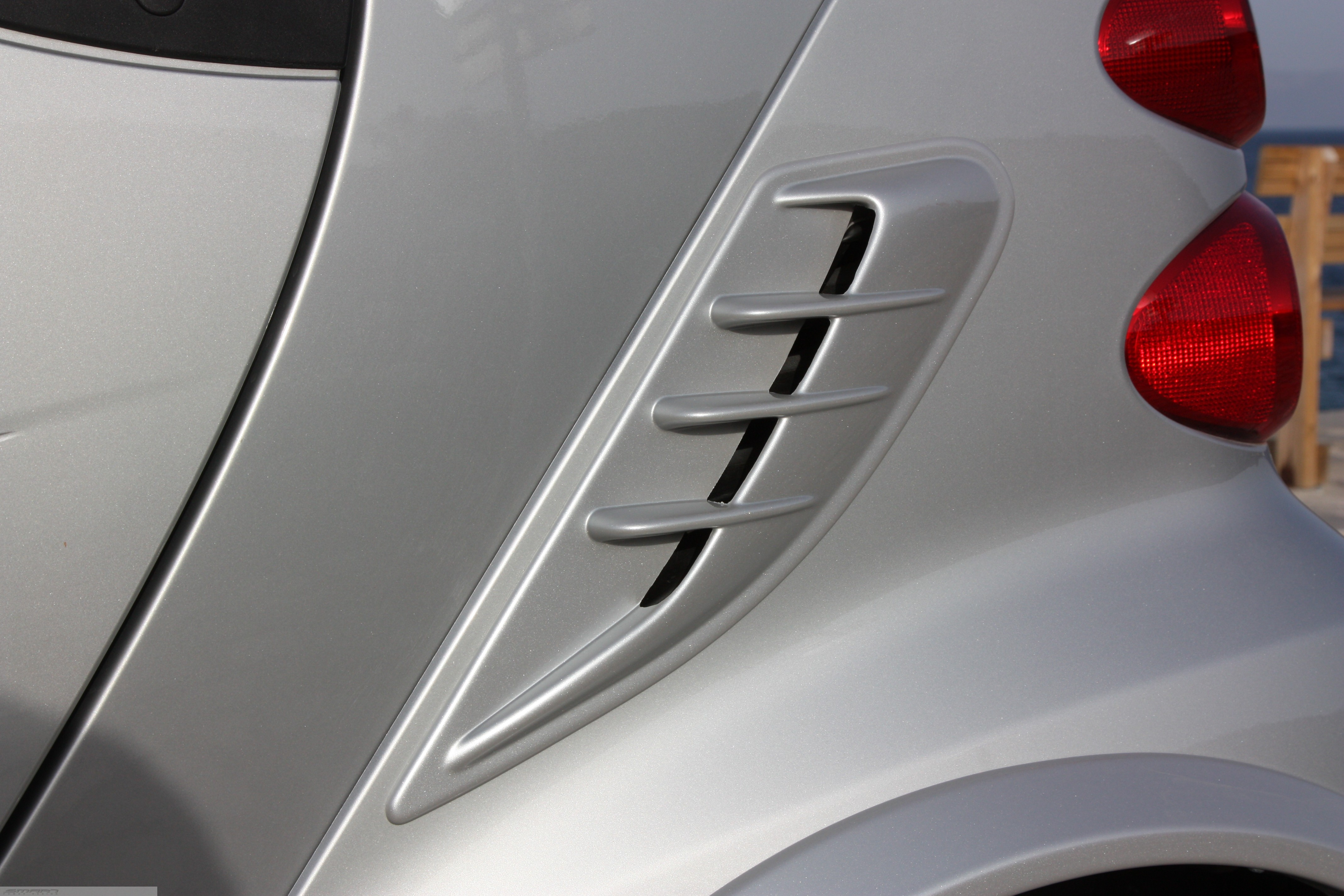Side Air Intake Scoop River Silver Smart Fortwo 451.