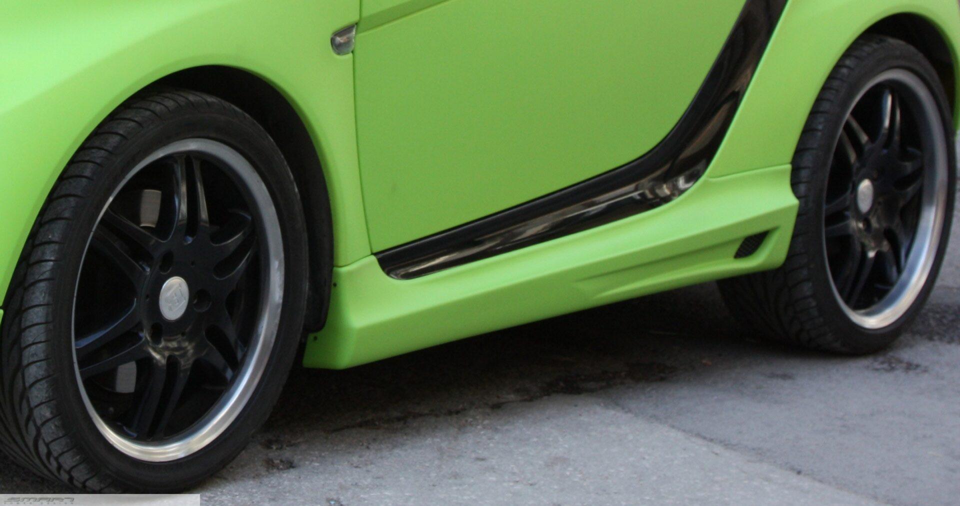 Πλαϊνά Σπόιλερ σε custom χρώμα Smart Fortwo 451.