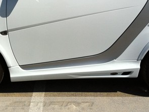 Side Skirts White Color Smart Fortwo 451.