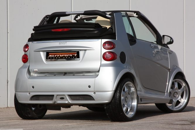 Body Kit Silver Rear View Smart Fortwo 451.
