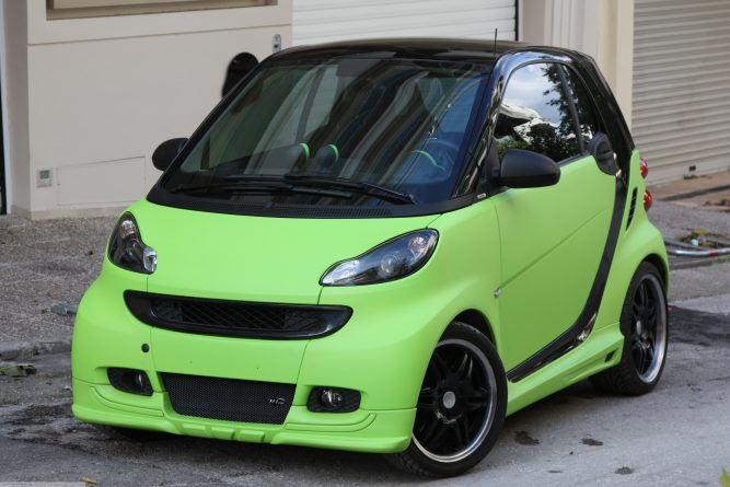 Body Kit Green Color Smart Fortwo 451.