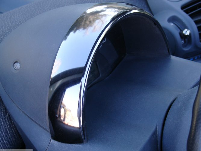 Speedometer Cover Nickel Black Smart Fortwo 450.