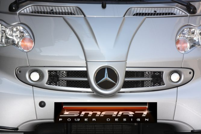 Front Grille F1 River Silver Smart Fortwo 450.