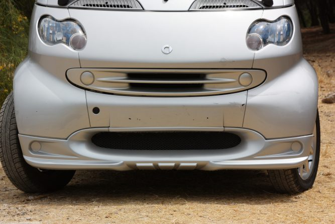 Front Spoiler Silver Smart Fortwo 450 ( Style 1).