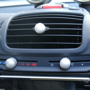 Knobs Set Aluminum Smart Fortwo 450.