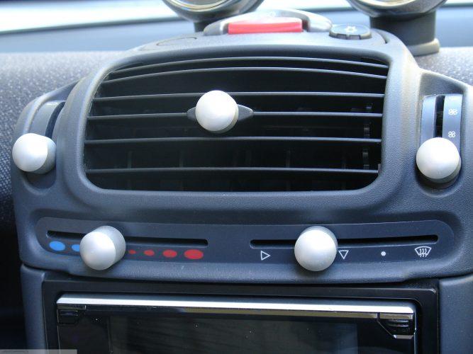 Knobs Set Aluminum Smart Fortwo 450.