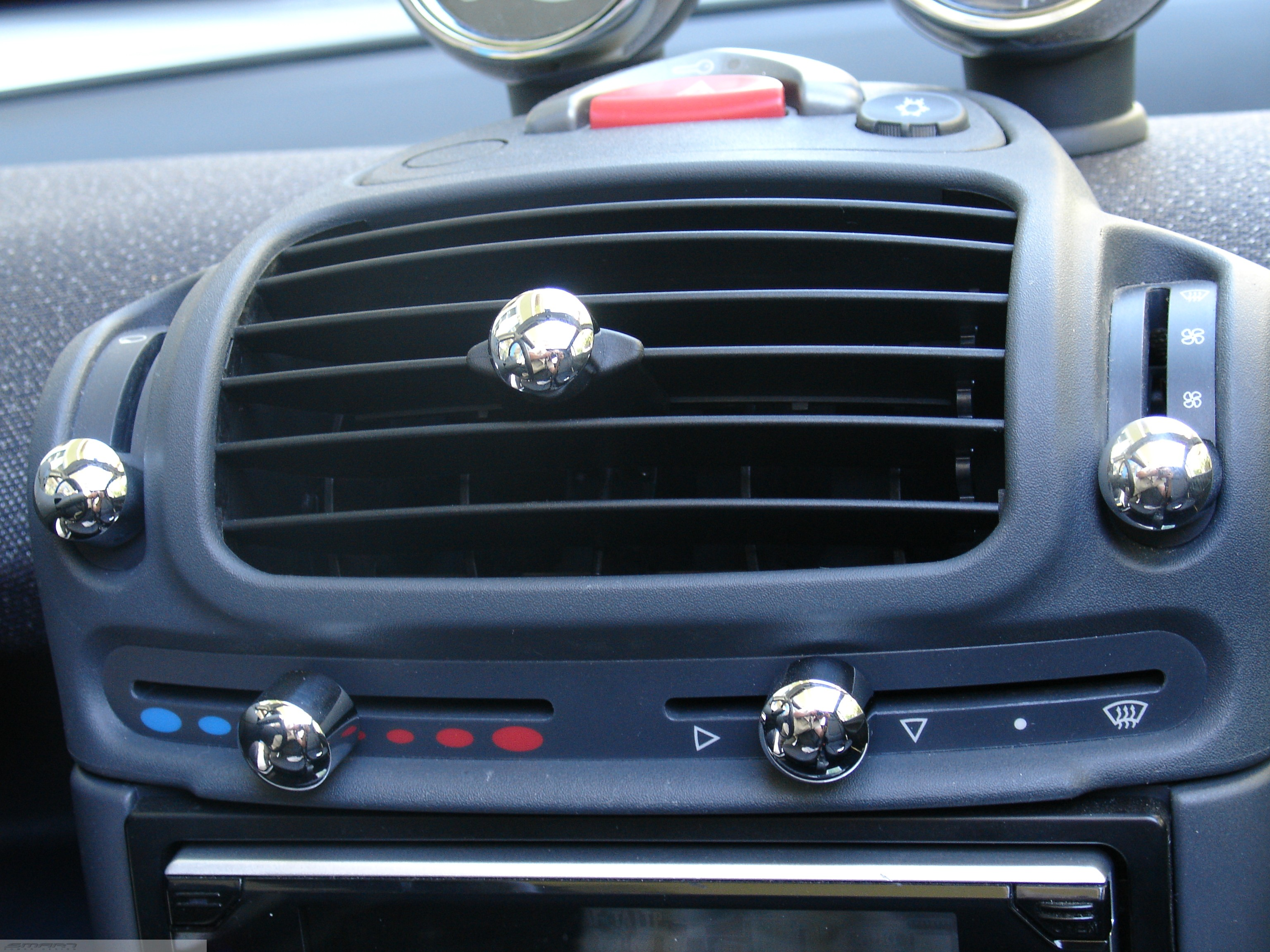 Knobs Set Chrome Smart Fortwo 450.