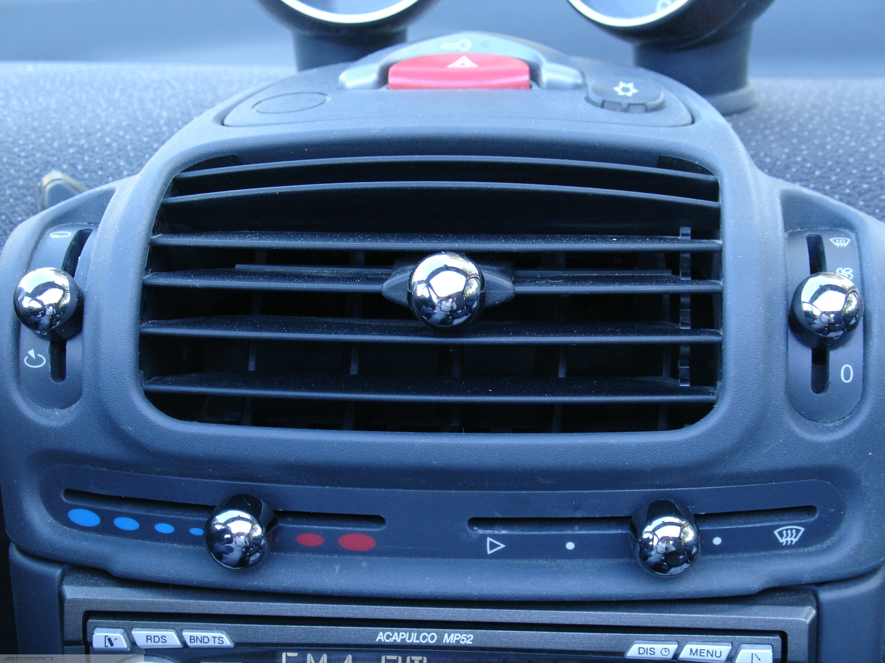 Knobs Set Nickel Black Smart Fortwo 450.
