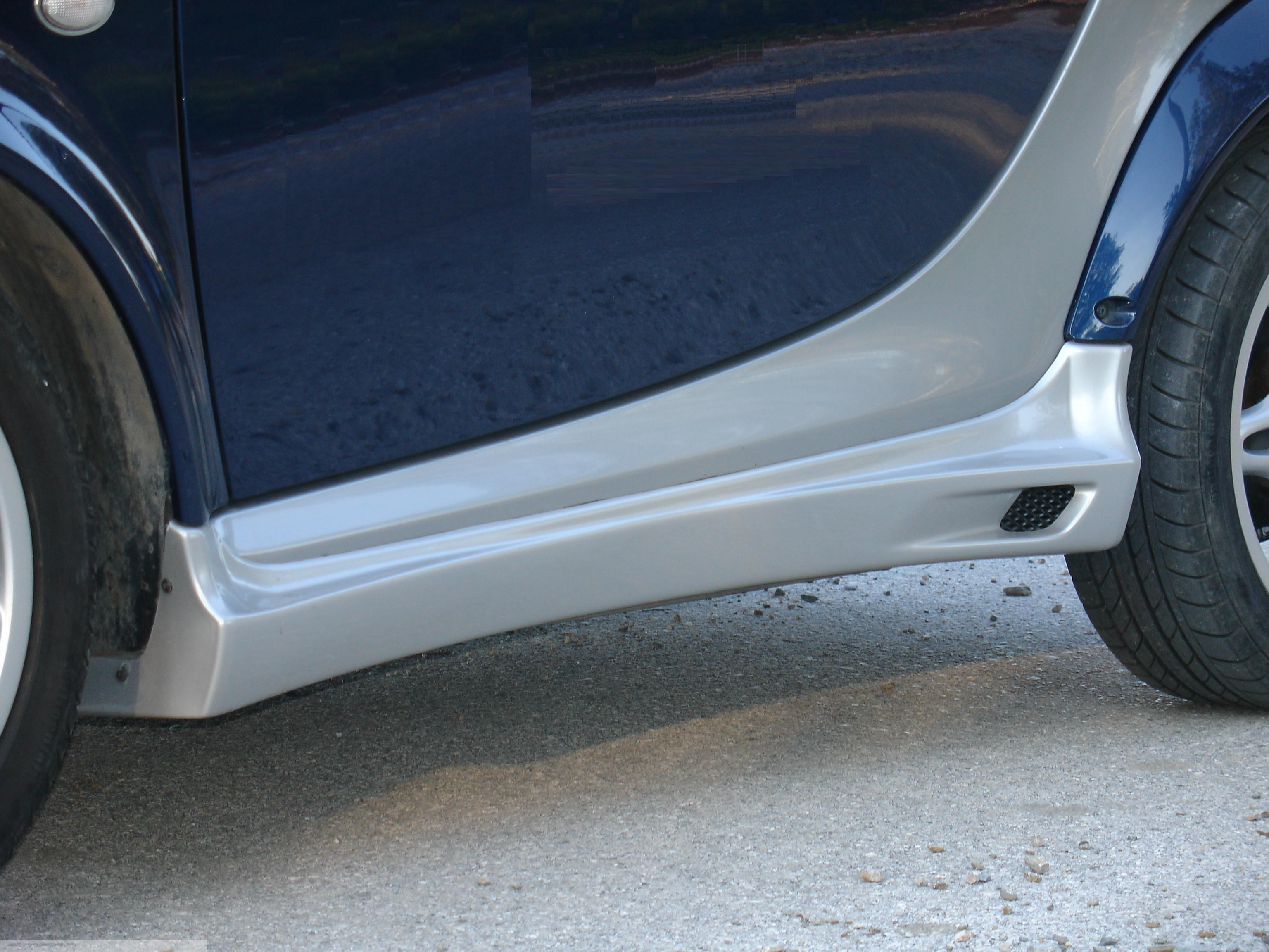 Side Skirts River Silver Smart Fortwo 450 ( Cabrio).