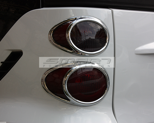 Chrome Tail Lights Frames Smart Fortwo 451