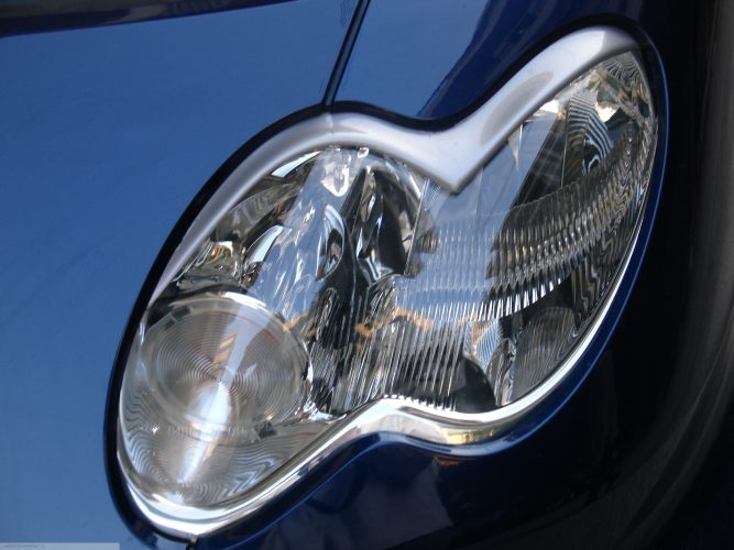 Headligth Frames River Silver Smart Fortwo 450.