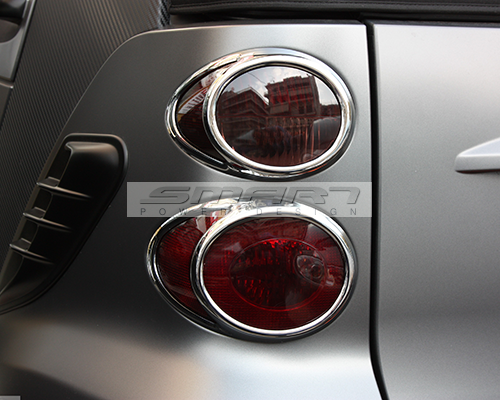 Tail Light Frames Chrome Finish Smart Fortwo 451.
