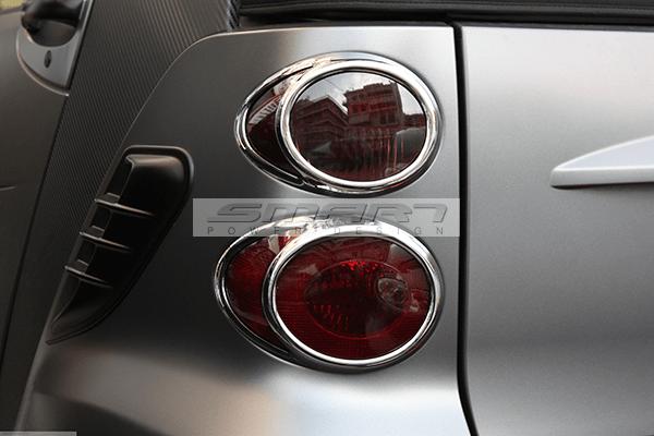 Tail Light Frames Chrome Finish Smart Fortwo 451.