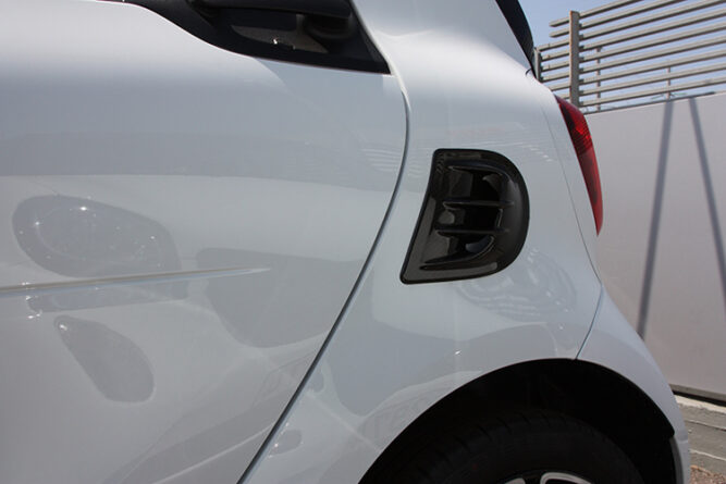 This is a Carbon Air Intake Scoope for the new Smart Fortwo 453 by Smart Power Design.