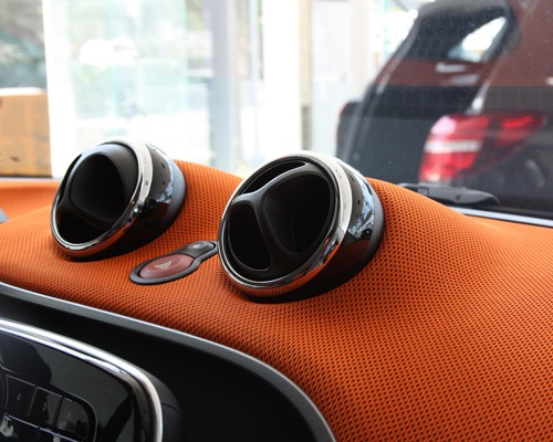 These are the Chrome Rings for the Vents of your Smart Fortwo 453.