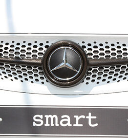 A close look to the new Carbon Front Grille for the new Smart Fortwo 453.