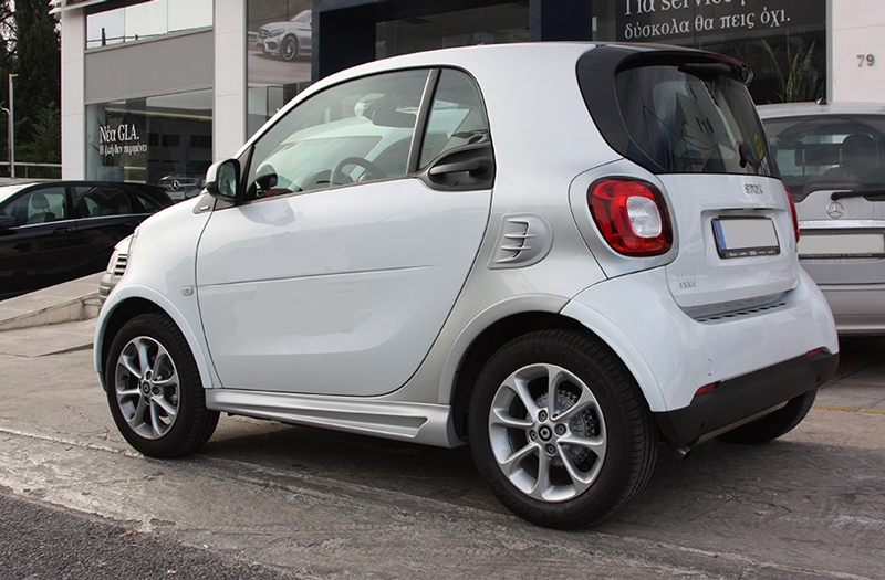 These are the Side Skirts for the Smart Fortwo 453, in Cool Silver Metallic color, brought to you by Smart Power Design.
