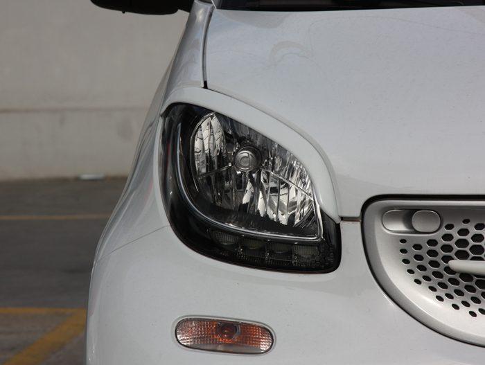 Headlight Eyebrows Smart Fortwo 453 White Smart Power Design