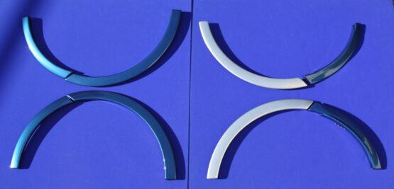 Αυτές είναι οι προεκτάσεις φτερών για το Smart Fortwo 453 σε μπλε χρώμα Midnight με ασημί Tridion.
