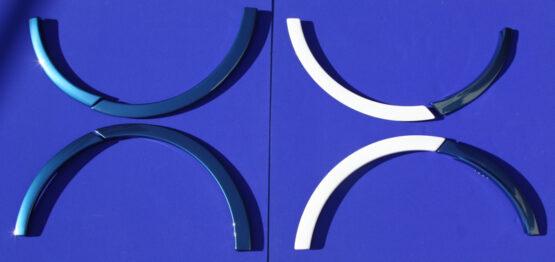 Αυτές είναι οι προεκτάσεις φτερών για το Smart Fortwo 453 σε χρώμα Midnight Blue color και με White Tridion.