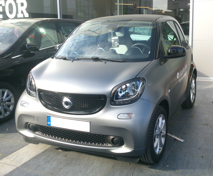 These are the Eyebrows for the new Smart Fortwo 453 in look Carbon finish.